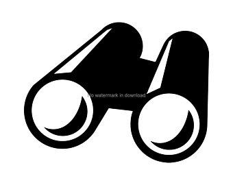 Binocular clipart spy tool. Binoculars svg etsy
