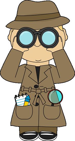 Detective with binoculars clip. Binocular clipart spy tool