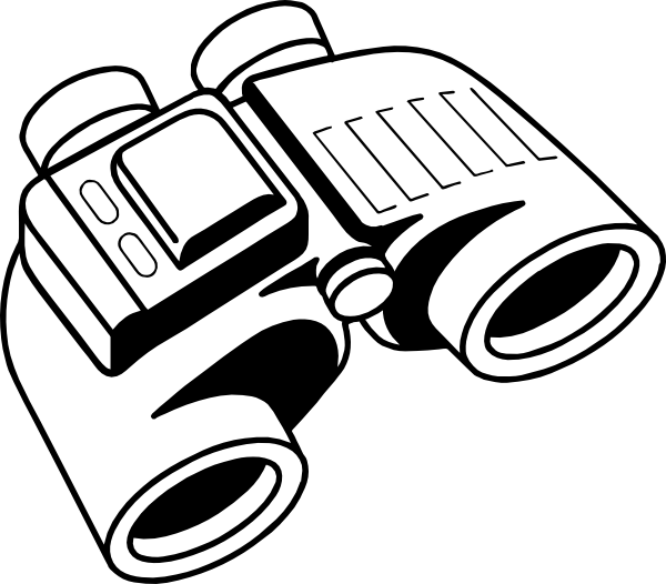 green clipart binoculars