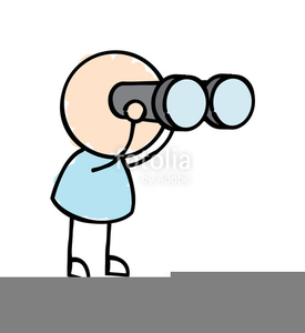 Binoculars clipart. Man with free images