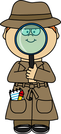 Binoculars clipart detective. Cute clip art postacie