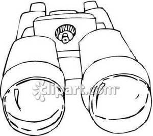 Binocular clipart black and white. Binoculars drawing at getdrawings