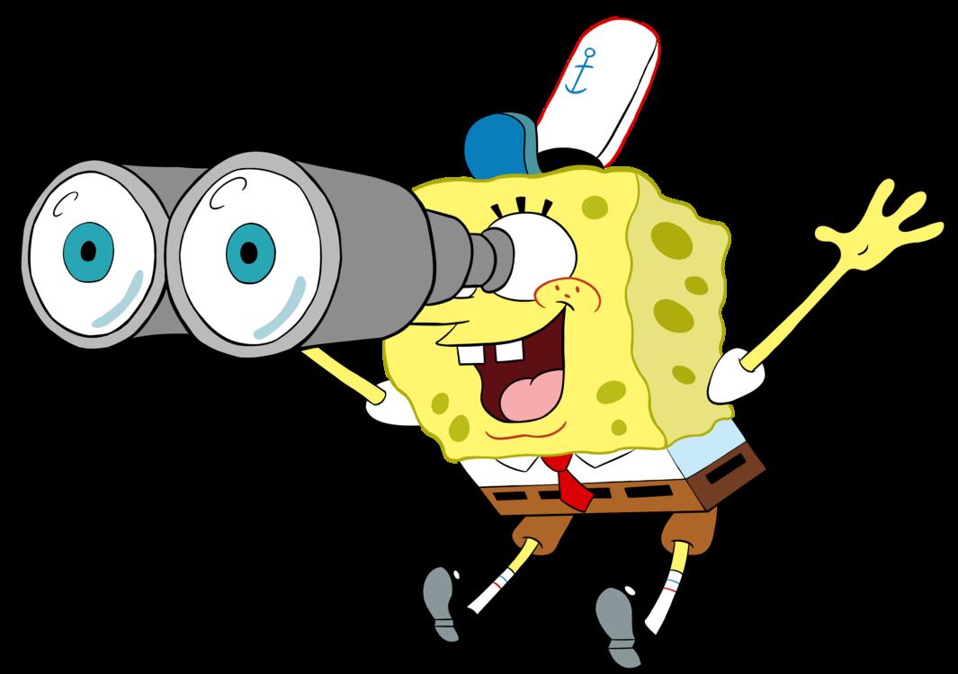 Spongebob with by eyecupcakes. Binoculars clipart eye