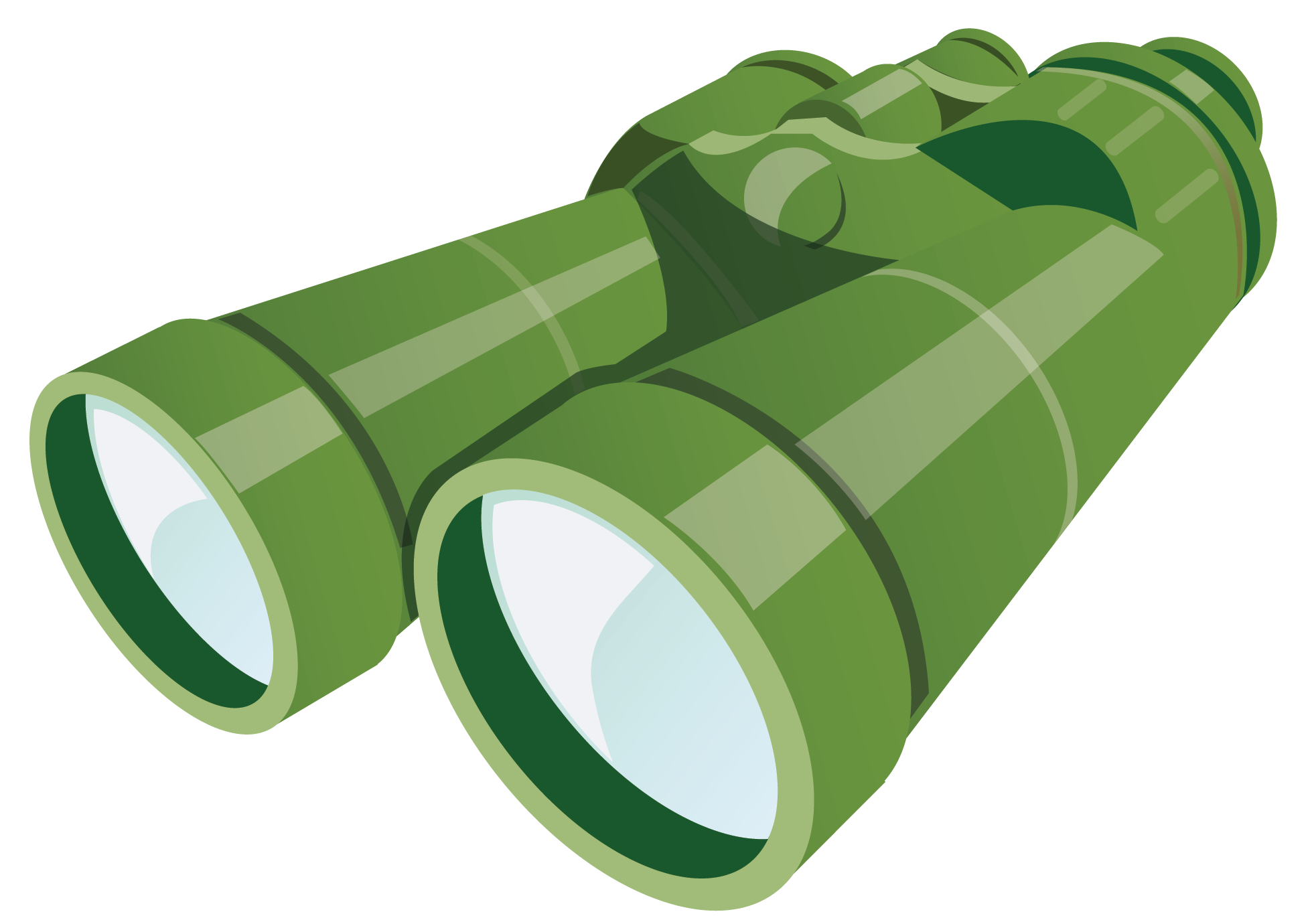Clipart glasses waste. Green binoculars pencil and
