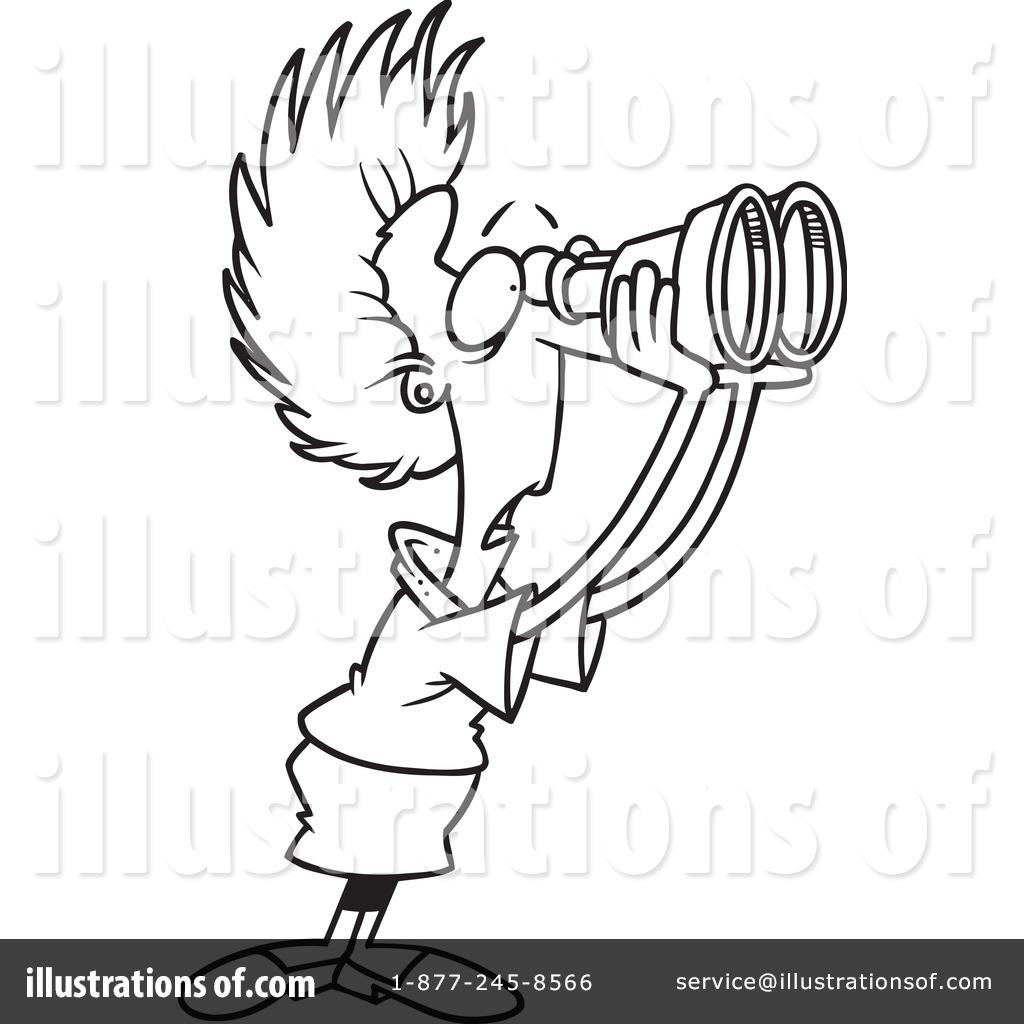 Illustration by toonaday royaltyfree. Binoculars clipart hand