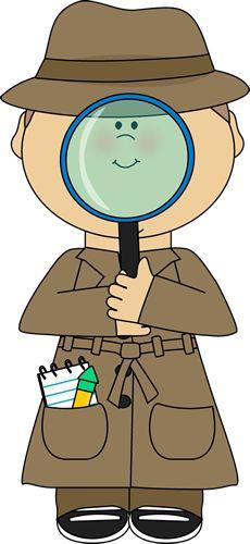 best clip art. Student clipart detective