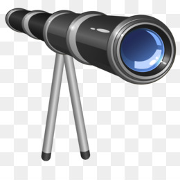 Telescope png and psd. Binoculars clipart lens