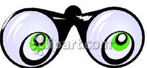 Binoculars clipart lens. Eyes in the lenses