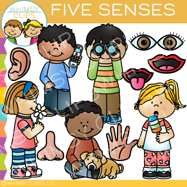 5 senses clipart. Five clip art images