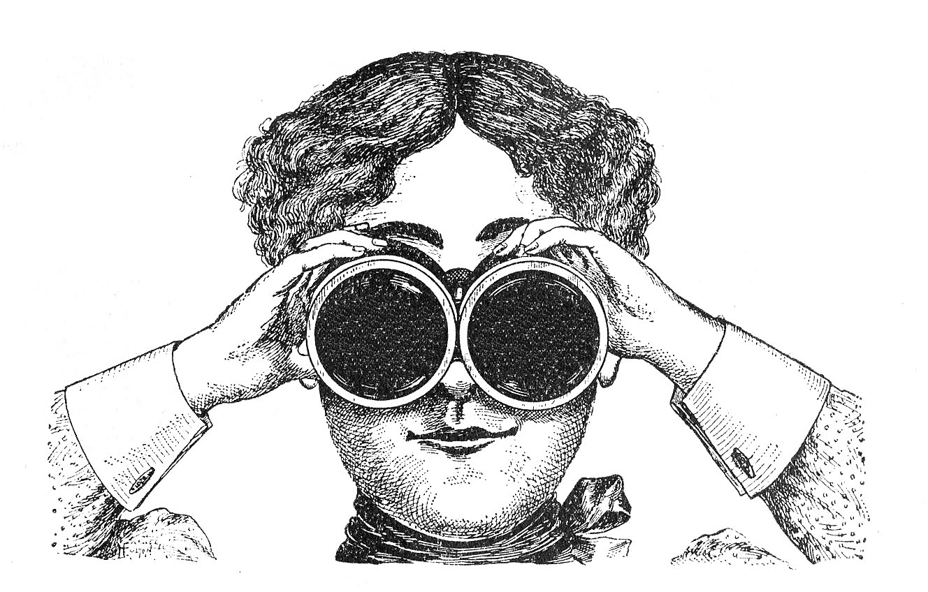 Fabulously quirky lady vintage. Binocular clipart kid with binoculars