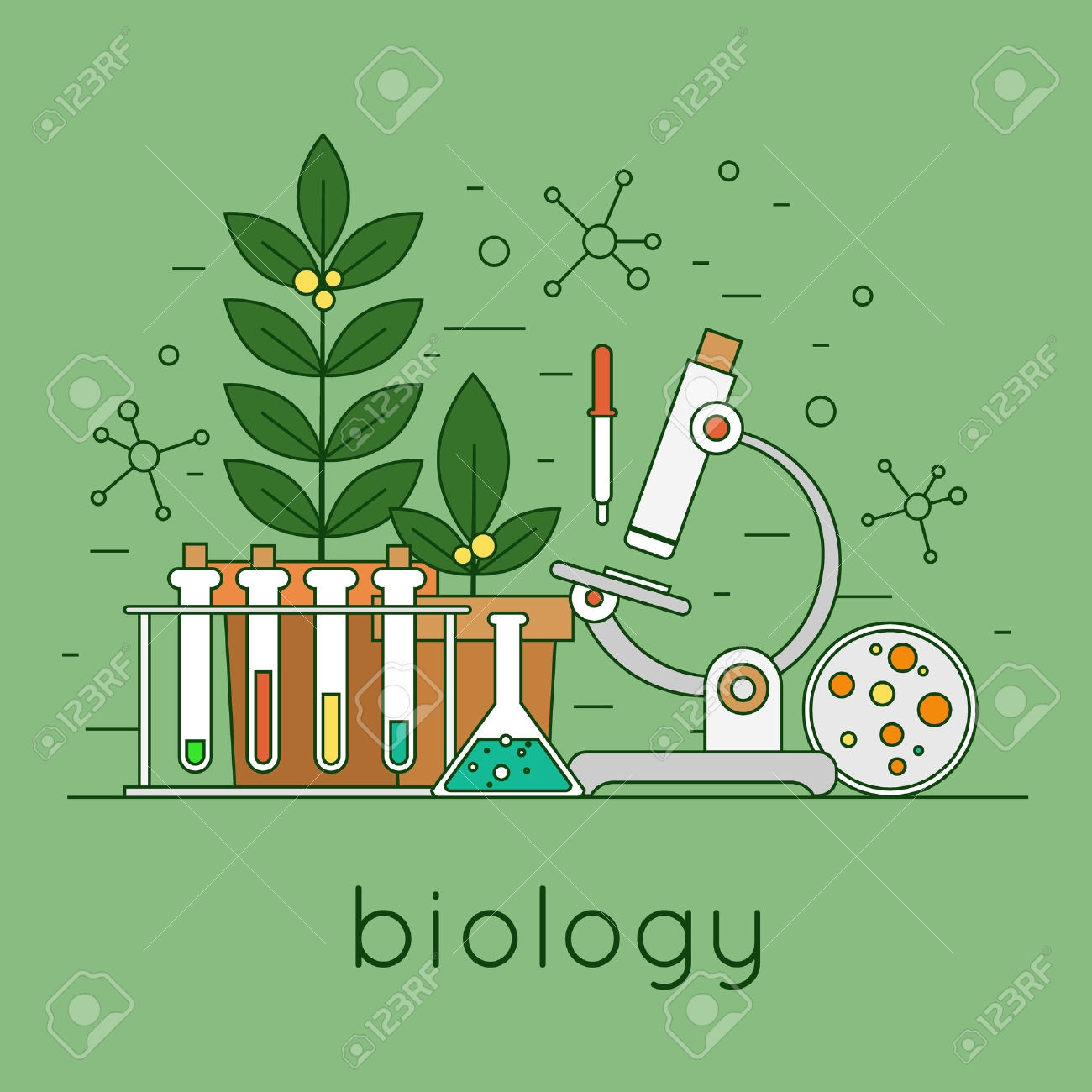 Fresh collection digital j. Biology clipart