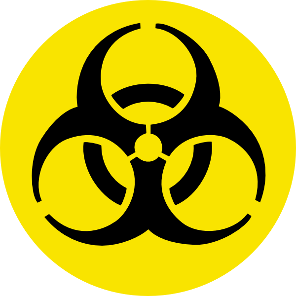 Biological safety clip art. Clipart computer hazard
