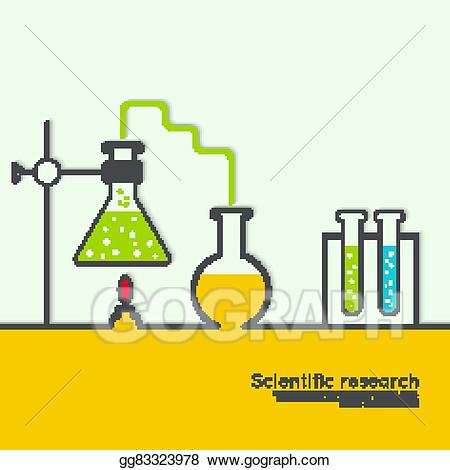 Chemical clipart science. Vector art the concept