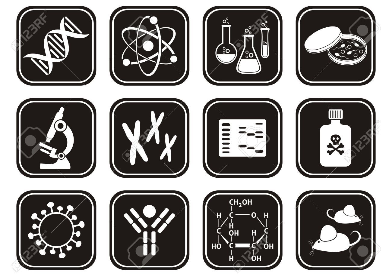 biology clipart black and white