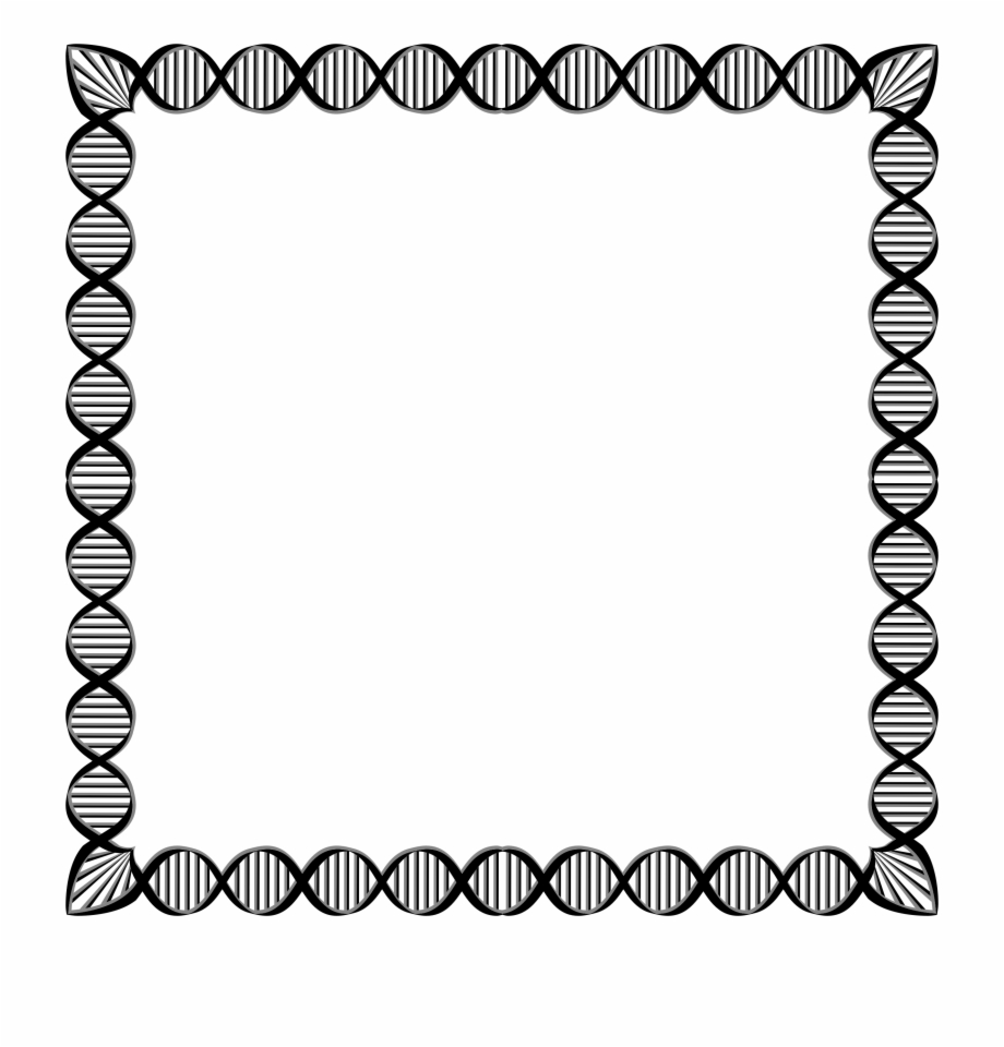 Biology clipart border. Dna page for project