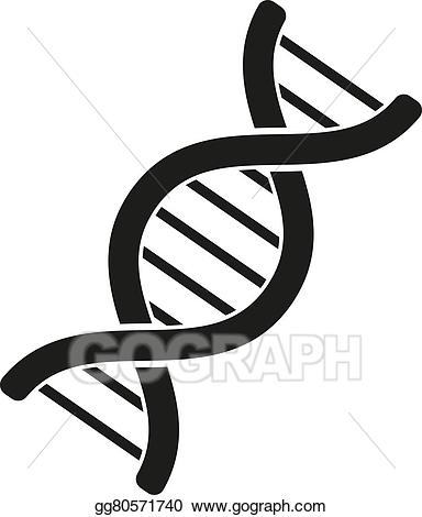 Biology clipart cloning. Eps vector the dna