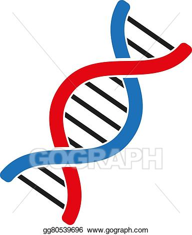 Biology clipart double helix. Eps vector the dna