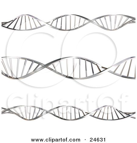 Illustration of three twisting. Biology clipart double helix