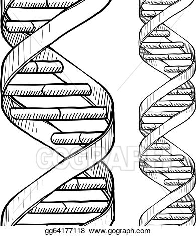 Vector stock seamless dna. Biology clipart double helix
