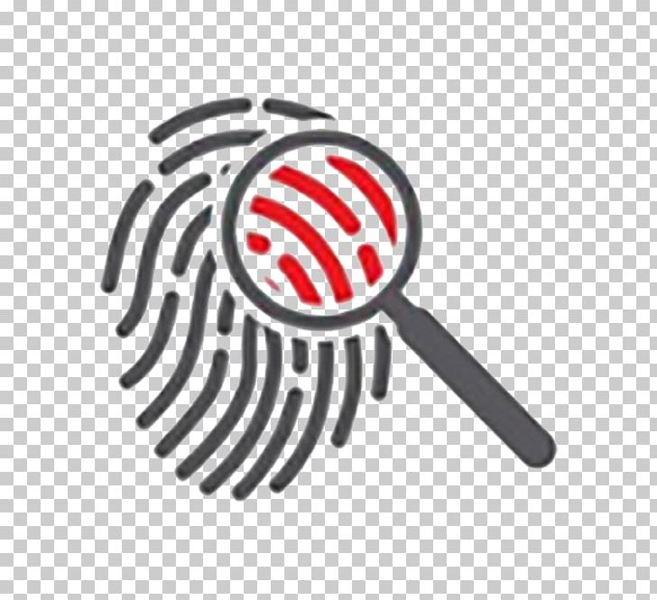 Science computer icons fingerprint. Biology clipart forensic