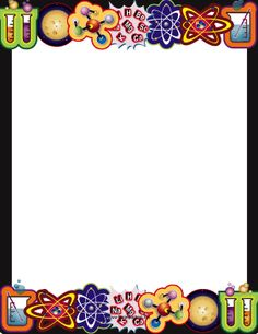 Biology clipart frame. Printable border use the