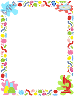 Biology clipart frame. Border ideas printable page