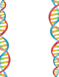 Dna border school page. Biology clipart frame