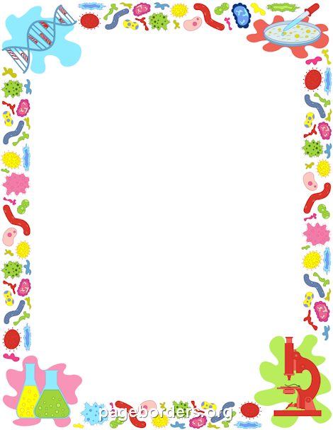 Printable border use the. Biology clipart frame