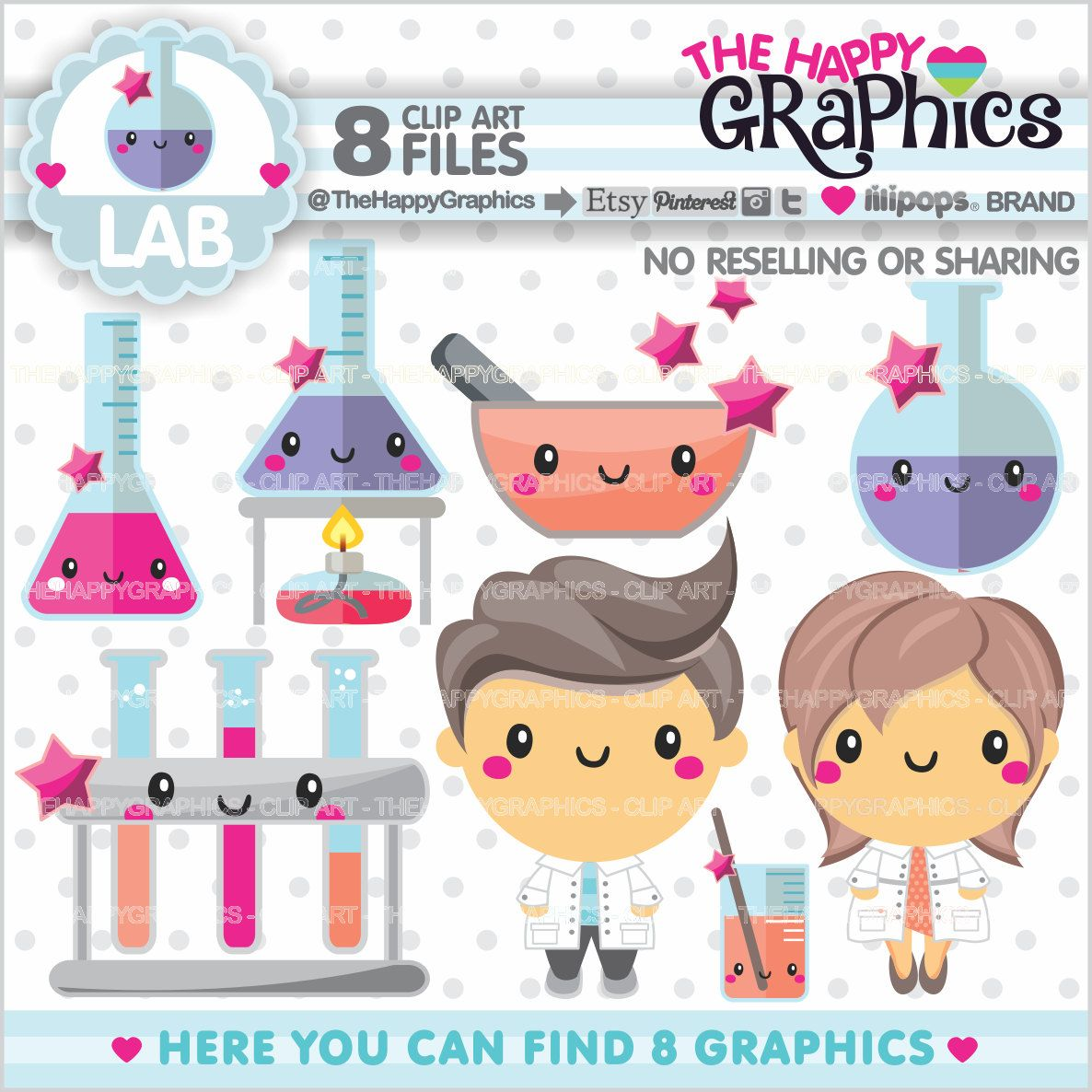 Graphic commercial use kawaii. Planner clipart lab notebook