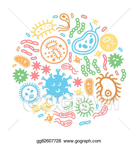 Biology clipart microorganism. Stock illustration bacteria and