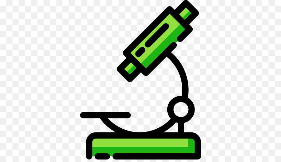 Cartoon science green . Biology clipart microscope