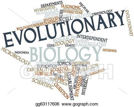 Drawing evolutionary gg gograph. Biology clipart word
