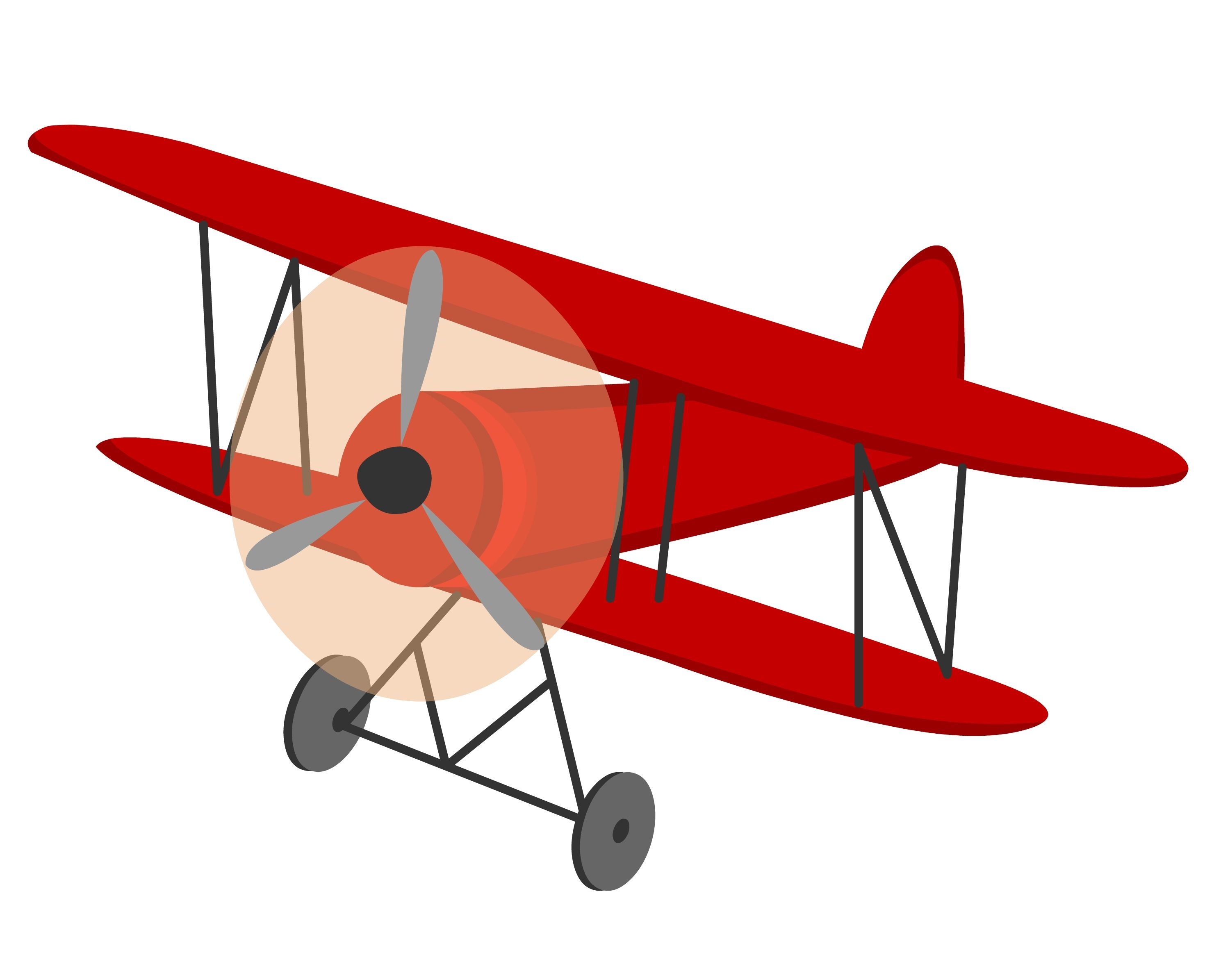 Biplane clipart. Vintage party planning