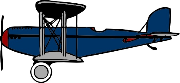 Red blue clip art. Biplane clipart