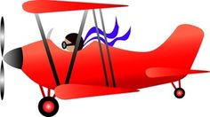 Collection of vintage airplanes. Biplane clipart animated