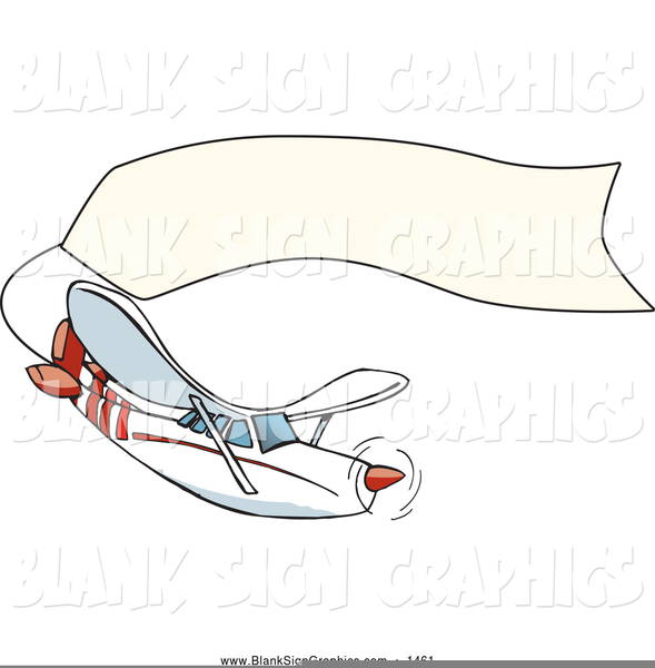 Plane pulling free images. Biplane clipart banner