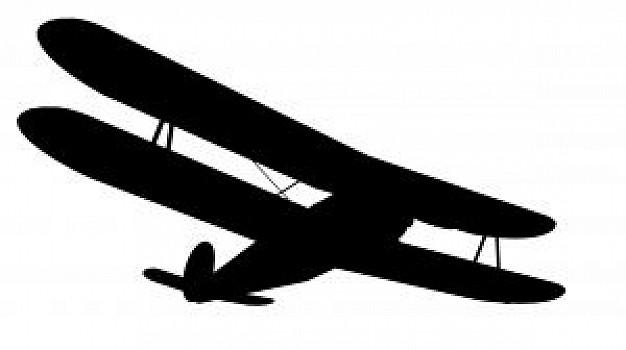Silhouette photo free download. Biplane clipart black and white