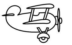 Biplane clipart black and white. Airplane cartoon clip art