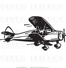 best crop dusting. Biplane clipart black and white