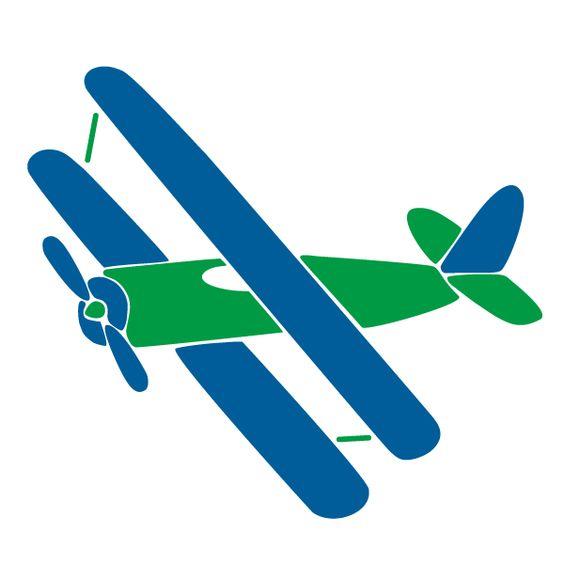 Silhouette clip art at. Biplane clipart blue