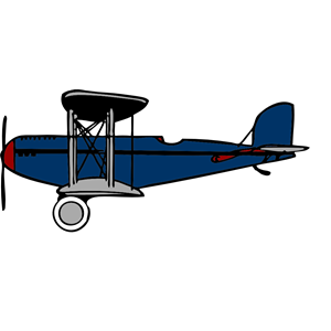Biplane clipart blue. With red wings cliparts