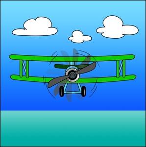 Free image auto flying. Biplane clipart cartoon