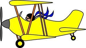 Biplane clipart cartoon. Airplane clip art images
