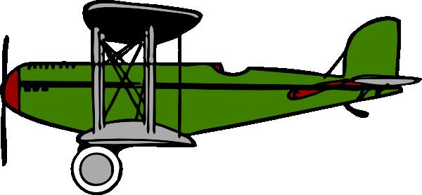 Green at clker com. Biplane clipart clip art