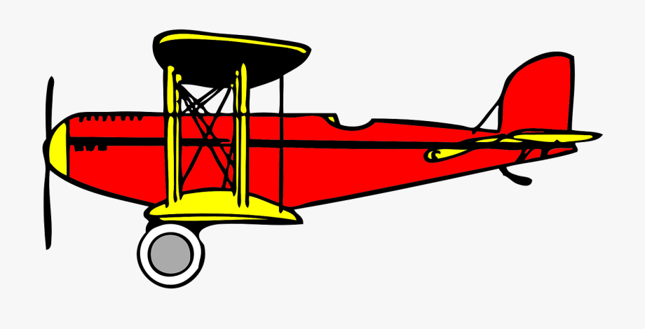 Biplane clipart clip art. Oldtimer nostalgic free picture