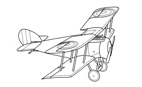 Biplane clipart coloring page. Pages for kids fast
