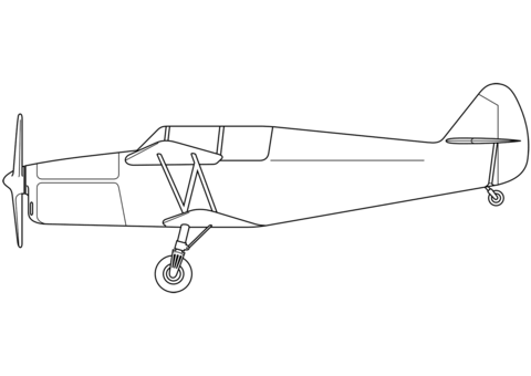 Free printable pages . Biplane clipart coloring page