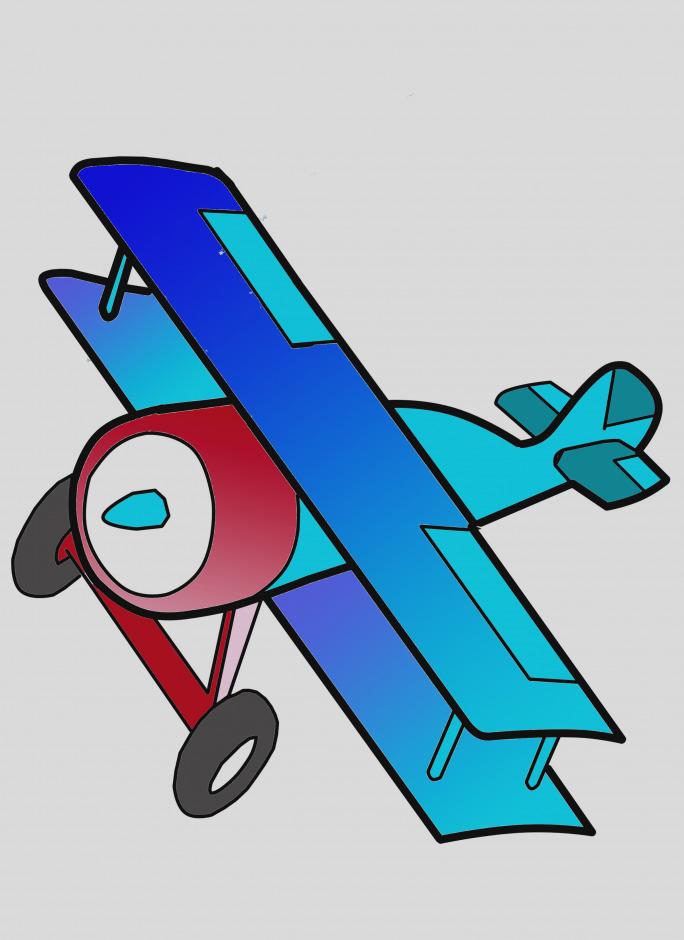 Elegant plane clip art. Biplane clipart cute
