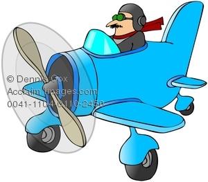 Biplane clipart cute. Clip art image pilot