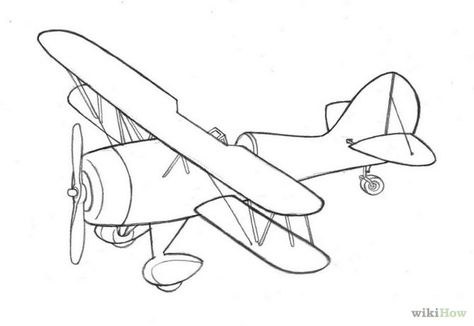 Biplane clipart drawing. Silhouette clip art at